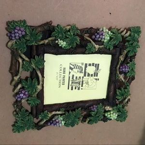 Hand painted grape wove picture frame